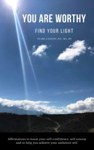 You are worthy, find your light, affirmations to boost your self-esteem, self-confidence and to help you achieve your authentic self