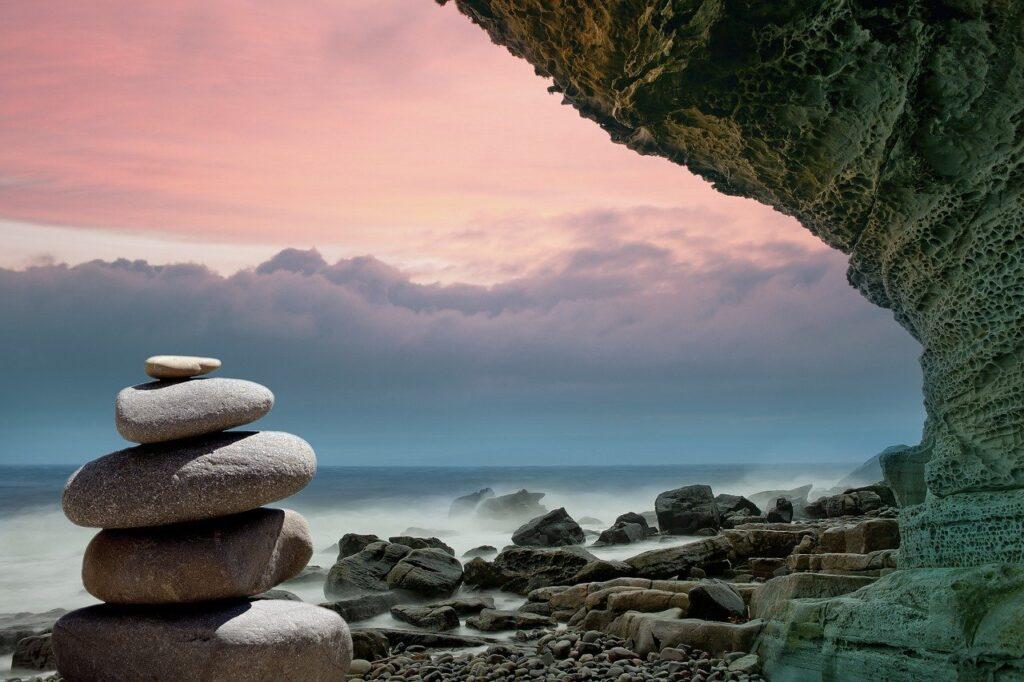 feng shui, stones, coast